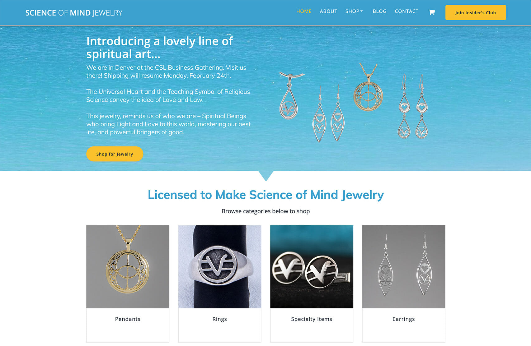 Science of Mind Jewelry